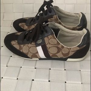 Coach Women's JOSS Khaki Brown Shoes Sneakers 9M